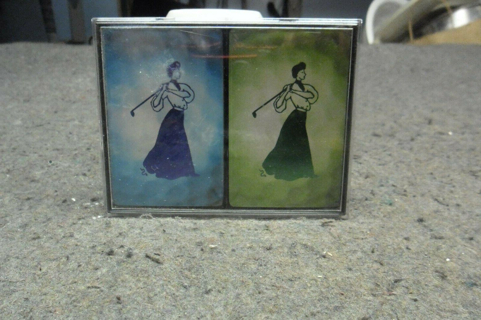 two new bridge card set with lady