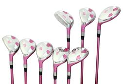 Senior Women's Majek Golf Pink Ladies Hybrid Set  Lady Fle