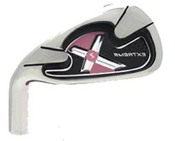 womens pink extreme x2 irons golf clubs