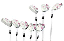 Women's Majek Golf White Ladies All Hybrid Set  Lady Flex